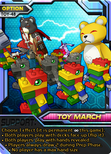Toy March Digimon Battle Evolution Option card